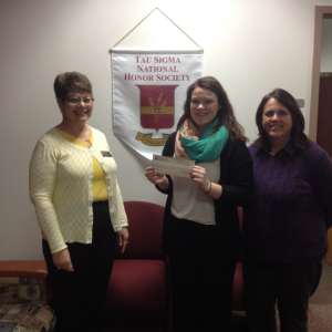 Keri Brown Receives Tau Sigma Scholarship
