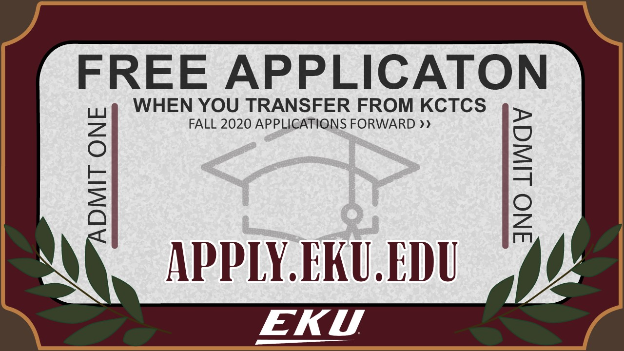 Free applications to EKU for KCTCS transfer students