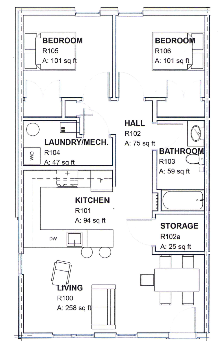 Scholar House Floor Plan